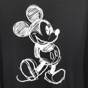 Disney Mickey Mouse Black Baseball T-Shirt
